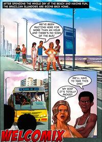 Brazilian Slumdogs: Crowded bus pic 2