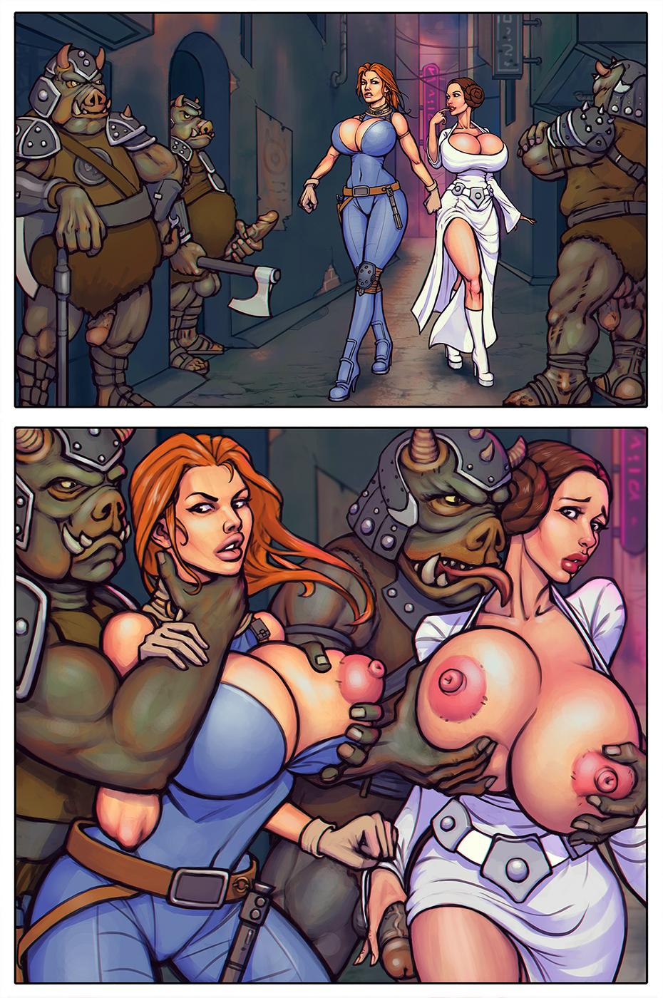 Princess Leia and Mara Jade
