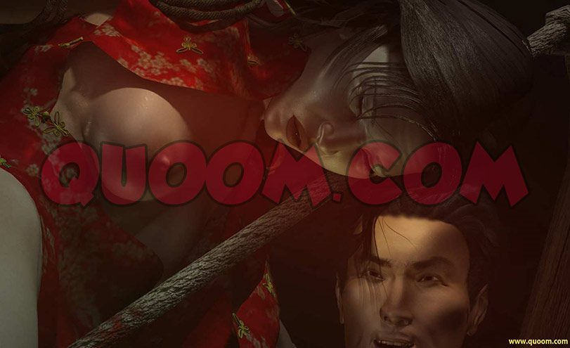Now able only to wriggle her hands and move her head - Chinese torture chamber by Quoom